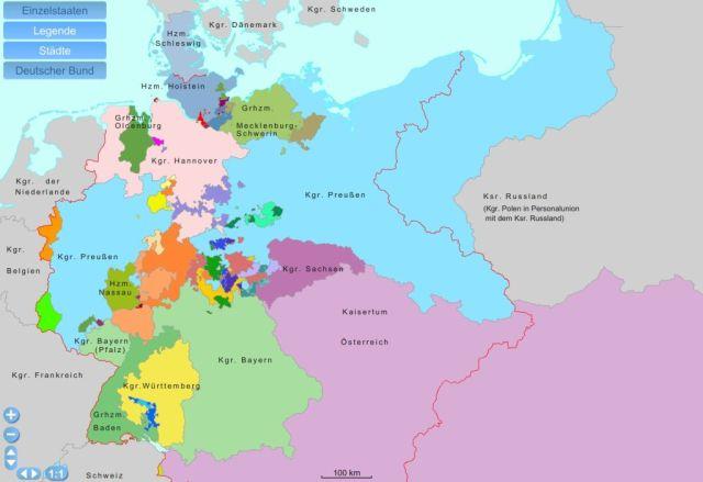 Flurbereinigung der Deutschen Landkarte (mit Genehmigung der medilesson GmbH/Schullizenz Stuttgart